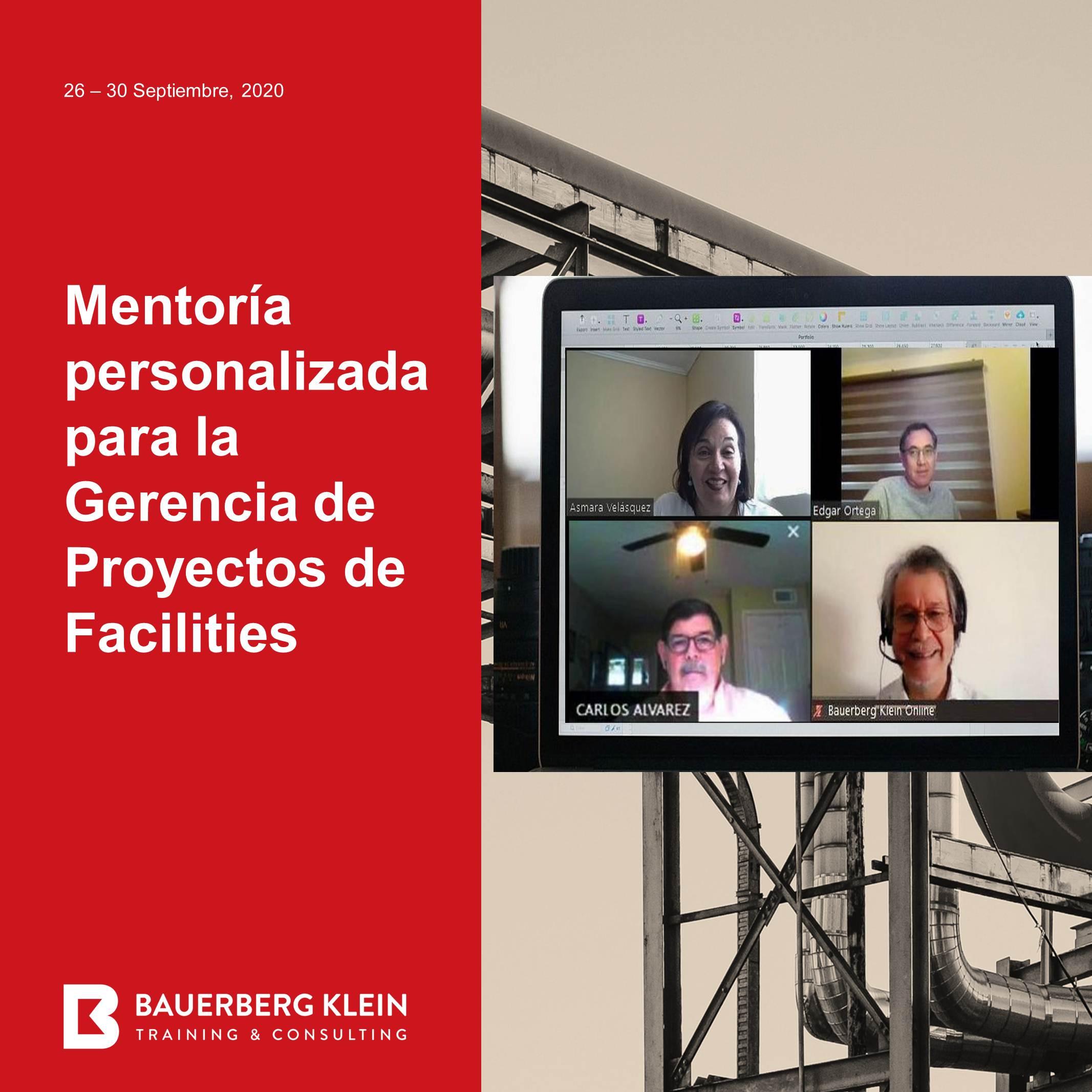 Mentoria personalizada para la Gerencia de Proyectos de Facilities